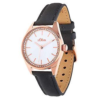 s.Oliver SO-3678-LQ - Women's wristwatch, quartz, analog, stainless steel