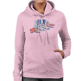 Back to the Future Marty Shoes Board And Comic Women's Hooded Sweatshirt