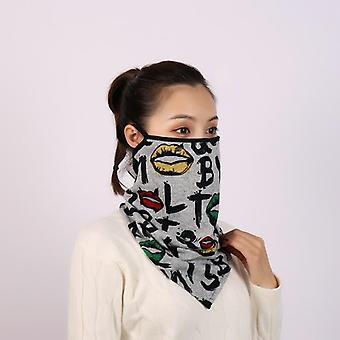 Vintermask scarf & livmoderhalscancer halsskydd halsduk kvinnor ring halsduk
