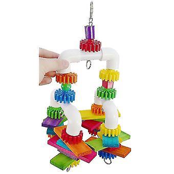 جديد الببغاء الطيور لدغة لعبة البلاستيك الأنابيب شنقا لعبة ES2195