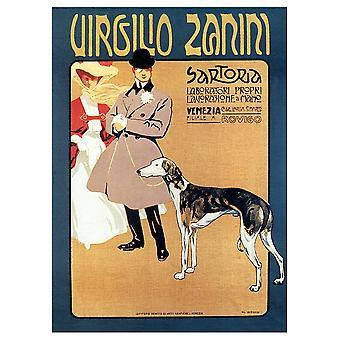 Vintage Reklame Plakat Sartoria Virgilio Zanini - Lærred Print, Væg Art Decor