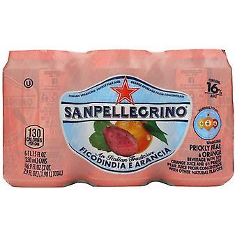 San Pellegrino Soda Prckly Pear Orng 6Pk, Case of 4 X 66.9 Oz