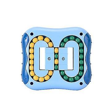 الأزرق تخفيف الضغط الدورية لعب الفاصوليا السحرية حبات صغيرة تململ الدوار لعبة مكعب سحري az10319