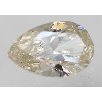 Certificado 0.44 Quilates H Cor VVS2 Pera Natural Loose Diamond 6.39x4.1mm 2VG