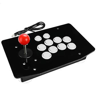 Arcade joystick 10 buttons usb fighting stick joystick gaming controller gamepad video game for pc consoles 6 colors for choose