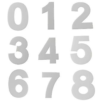 4 Inch Acrylic Casting Mold Number Alphabet 0 To 9