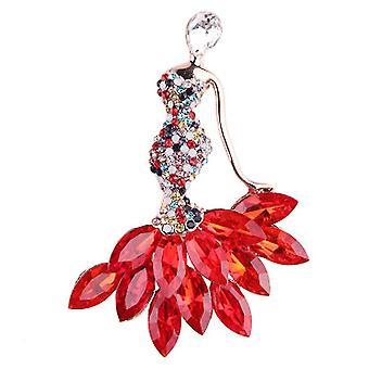 Naiset Rintaneito Corsage Diamond Inlaid Rintaneula Pin