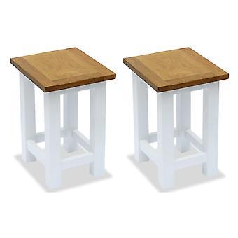 tabelas laterais vidaXL 2 pcs. 27 x 24 x 37 cm de carvalho de madeira maciça