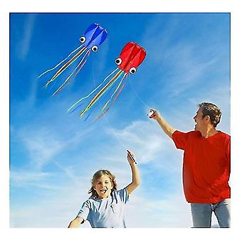 4m Large Octopus Kites, Long Tail Beautiful Easy Flyer Kites Beach Kites,to Fly(Red)