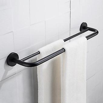 Matta musta pyyheteline kylpyhuone koukut laitteisto asettaa pyyhe baari saippua astia pyyhe kylpyhuone tarvikkeet
