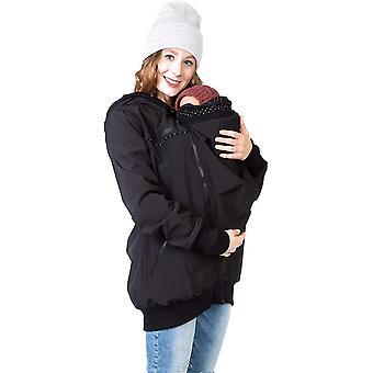 4in1 Tragejacke für Tragen auf dem Rücken oder der Brust, Softshell, Umstandsjacke + Kängurujacke -