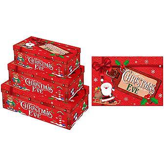 3 Stacking & Nesting Premium Kids Christmas Eve Boxes