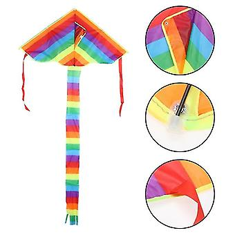 Rainbow Kite Toy  Outdoor Fun Sports Game - Triangle Flying Kite Easy To Fly