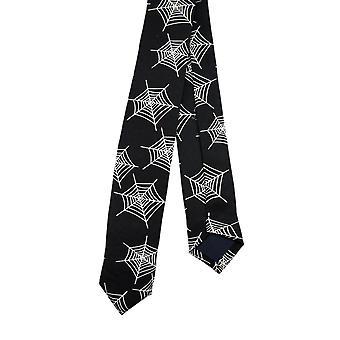 Spiderweb Print Skinny Tie Necktie Tie Spider Web