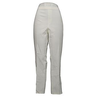 Isaac Mizrahi Live! Damen Plus Hose Basic Pull On White A220443