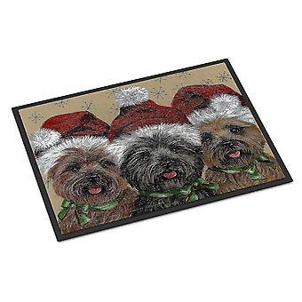 Door mats cairn terrier christmas ceaser and co indoor or outdoor mat 18x27