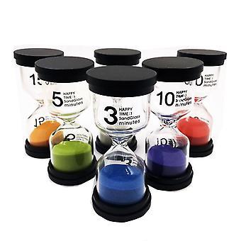 Песочный таймер 6 цветов Песочные часы Таймер 1 мин / 3 мин / 5мин / 10 мин / 15мин / 30ми
