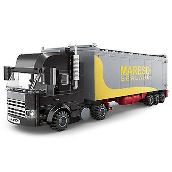 Engineering Container Truck Building Blocks Transporter Construction Truck Toy Gifts For Children
