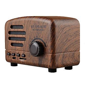 Retro Bærbar Mini Bluetooth Høyttaler Trådløse Høyttalere Super Bass Musikk Høyttalere Støtte Tf Kort Fm Radio Tre Korn