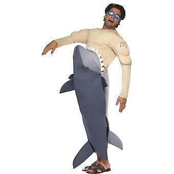 Žralok kostým žralok žraloka jej muž kostým biely žralok