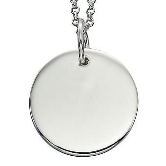 925 серебряные модным гравировка пластины ожерелье