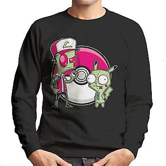 PoGIRmon Invader Zim Pokemon mannen Sweatshirt