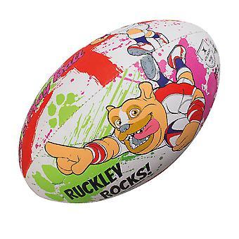 GILBERT Englannissa Harry Harrison kid's mascot rugby pallo