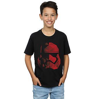 Star Wars garçons les derniers Jedi Stormtrooper cubiste rouge casque T-Shirt