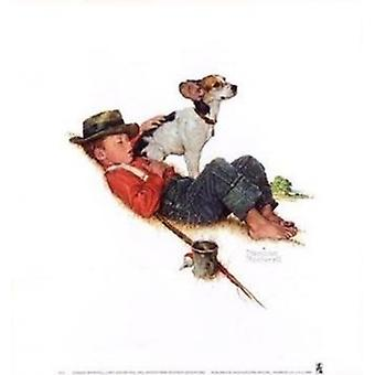 Adventures Between Adventures Poster Print by Norman Rockwell (16 x 18)