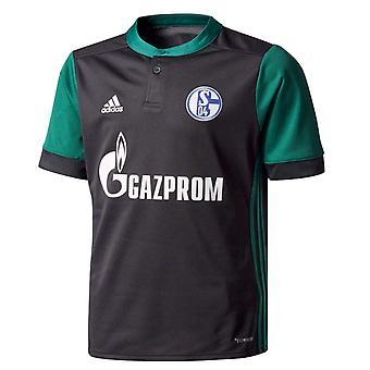 Chemise de 2017-2018 Schalke Adidas tiers (enfants)