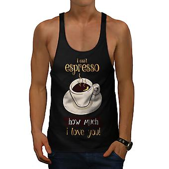 Espresso Love Pun Funny Men BlackGym Tank Top | Wellcoda
