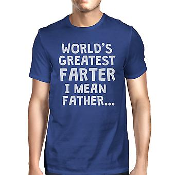Farter Father Mens Royal Blue Super Cute Sarcasm T T-Shirt For Papa