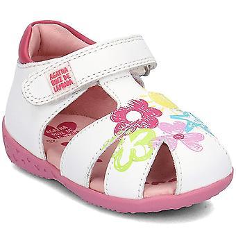 Agatha Ruiz De La Prada 182901ABLANCO zapatos universales para bebés de verano