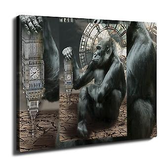 Tower apina UK seinä piirtoalustan tulosta 40 cm x 30 cm | Wellcoda