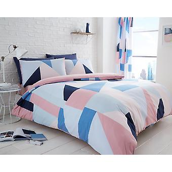 Sydney comprobar triángulo Duvet edredón cubrir Polycotton impreso ropa de cama Set ropa de cama