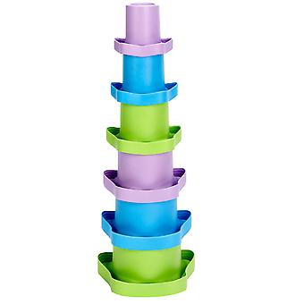 Green Toys My First Stacking Cups Educational Stacker BPA Free 100% Recycled