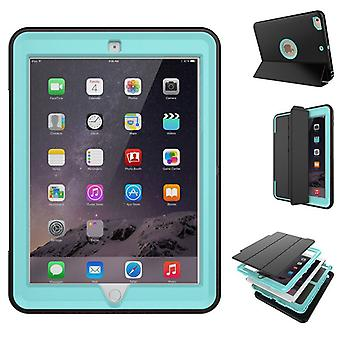Multi-part hybrid outdoor protective cover case blue for Apple iPad air 2 Pocket wake UP 3folt