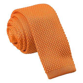 Mandarine gestrickt schmaler Krawatte