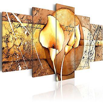 Vászon Print-a titka Calla Lily-arany