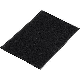Basetech 98001c375 Hook-and-loop nastro stick-on Hook pad (L x W) 500 mm x 100 mm Nero 1 pc(s)