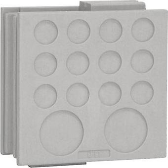 Icotek DT 1 pasacables Terminal Ø (máx.) mm 12,2 elastómero gris 1 PC