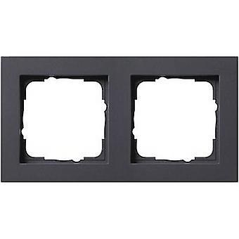 GIRA 2 x Frame E2, standaard 55 antraciet 0212 23