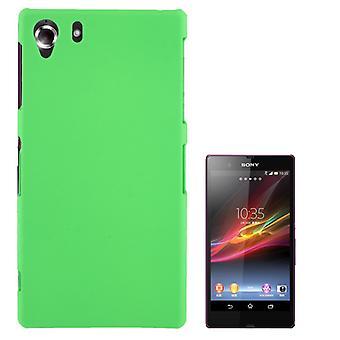 Kansi muovi tapauksessa Sony Xperia Z1 vihreä