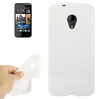Mobile affaire TPU housse pour téléphone portable HTC desire 700 blanc