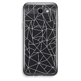 Samsung Galaxy J3 Prime (2017) przezroczysty (Soft) - geometryczne linie białe