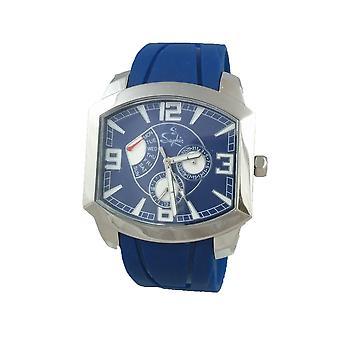 Saphir Mens Blue Watch High Quality Movement Exclusive UK Seller RRP £199 BNIB