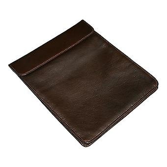 Luxuriöse Chocolate Leather & Silk iPad Abdeckung