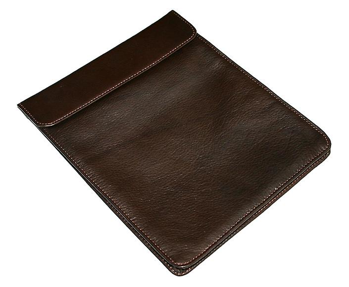 Luxueux cuir chocolat et couverture d'iPad de la Soie