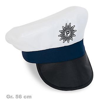 Police Hat man Cap white
