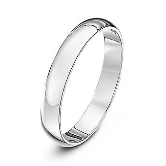 Star Wedding Rings 18ct White Gold Heavy D 3mm Wedding Ring